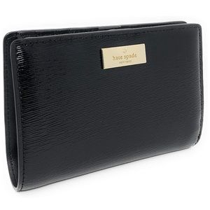 Kate Spade Tellie Patent Leather Black Wallet